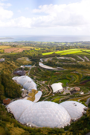 A view over the Eden Project