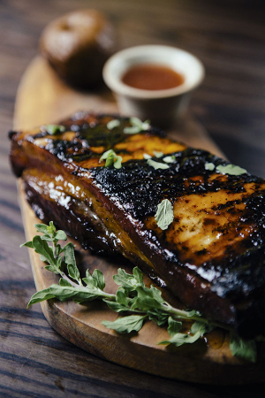 Ribs from Tish and Mullins' European-style grill restaurant Ember Yard