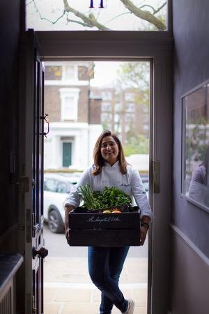 Saima Khan at her home in Hampstead