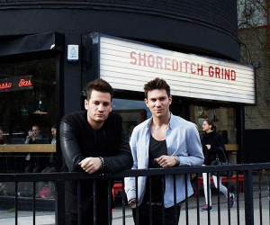 The coffee chain Grind & Co is owned by David Abrahmovitch and Australian DJ Kaz James, who turned the space above their original Shoreditch café into a recording studio.