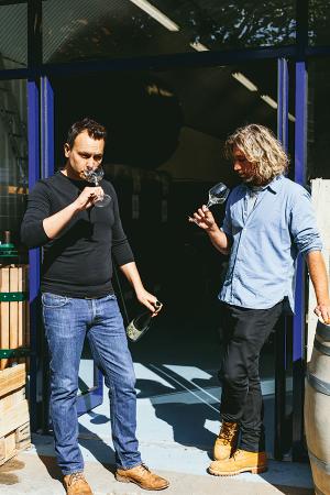 Renegade London wine's founders Warwick Smith and Josh Hammond