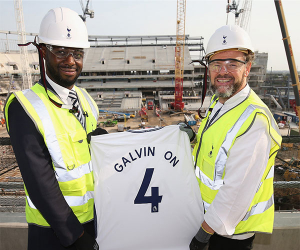 Chris Galvin with former captain and club ambassador Ledley King