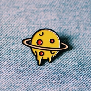 Voodoo Ray's pizza planet badge