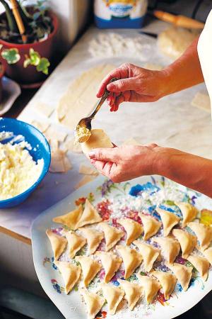 Ukrainian dumpling prep