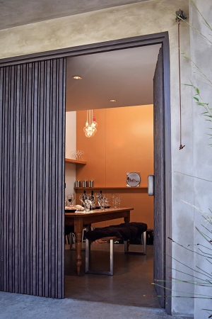 The tasting room at Sanguis, an urban winery in Santa Barbara