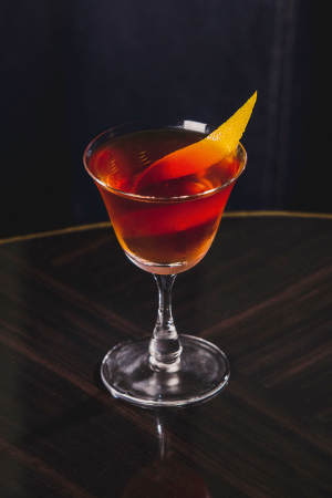 Chamomile Rob Roy from the Bassoon Bar at the Corinthia Hotel London