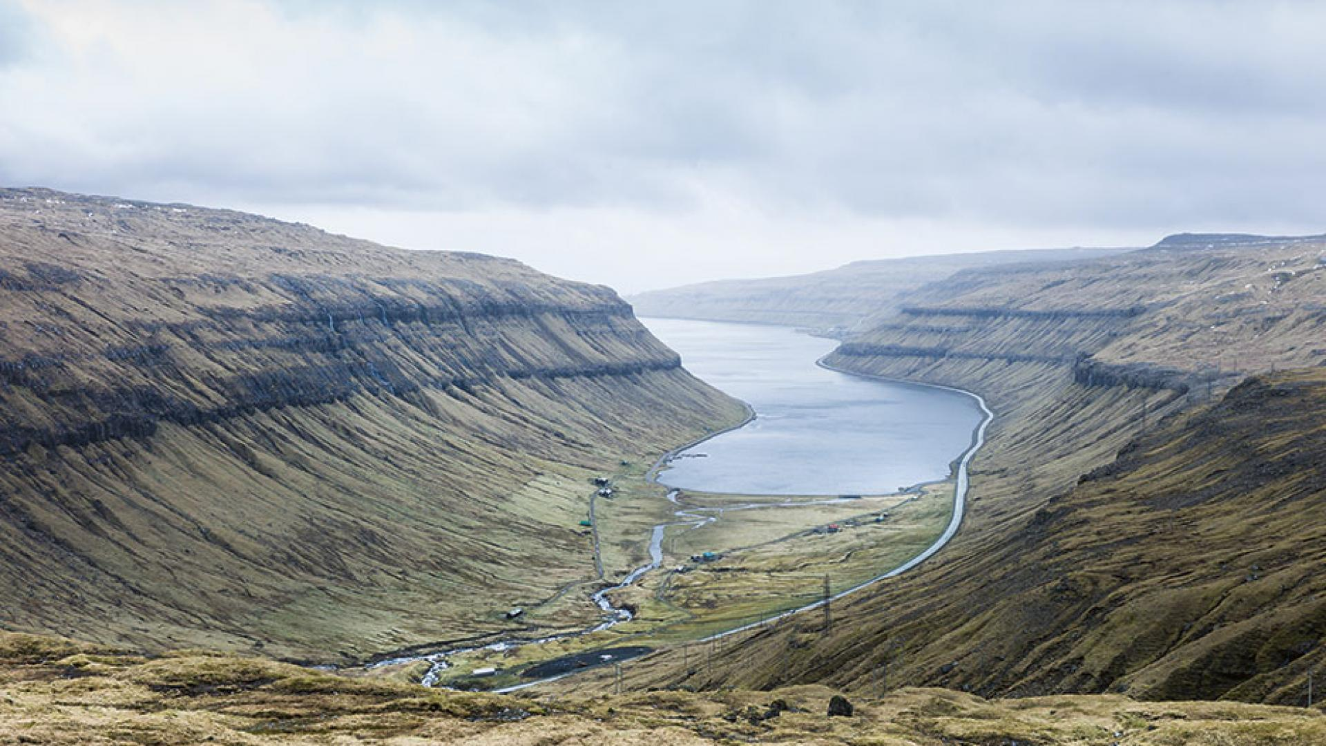 A fjord in the Faroe Islands