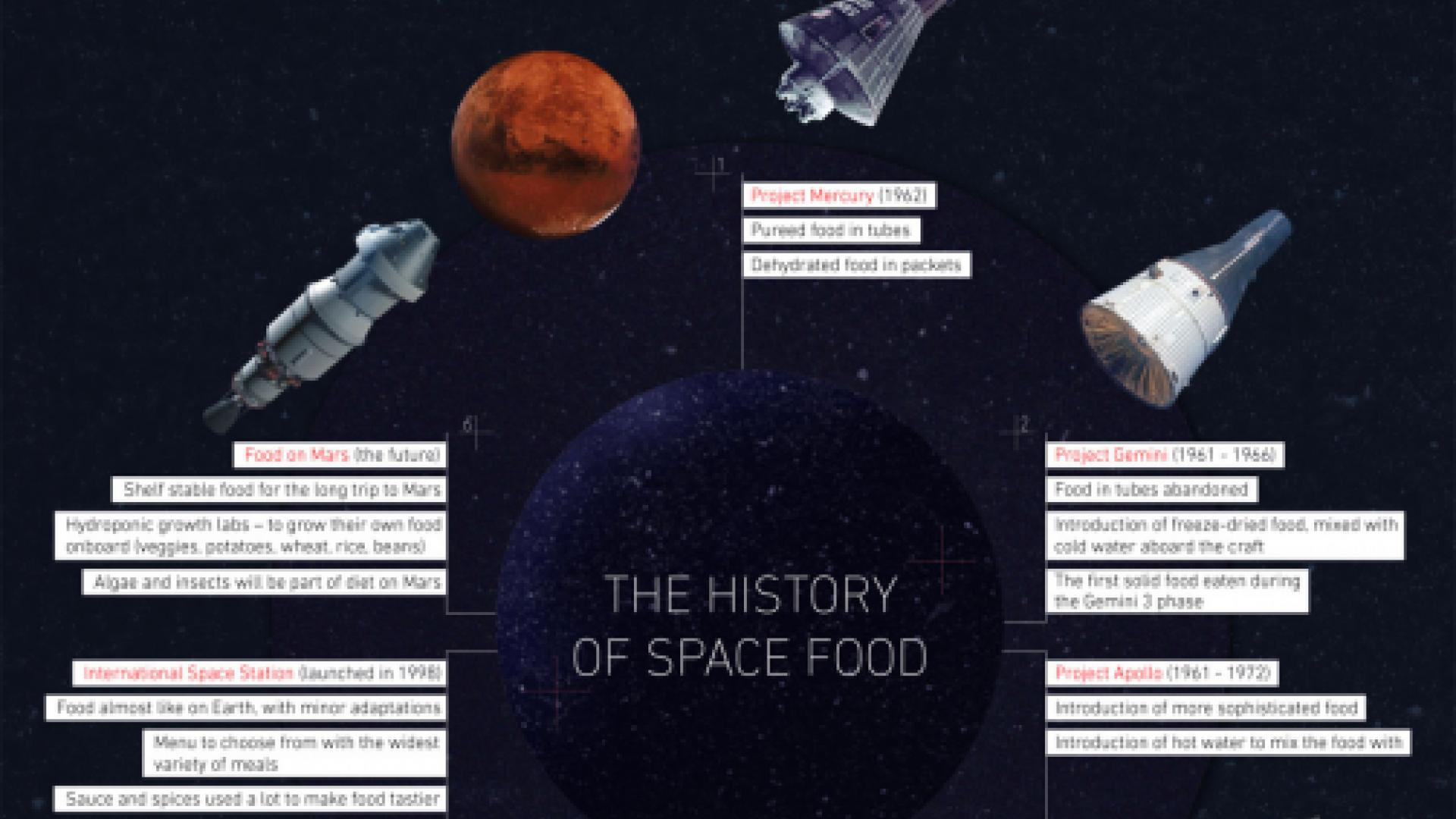 Labeley's space food infographic