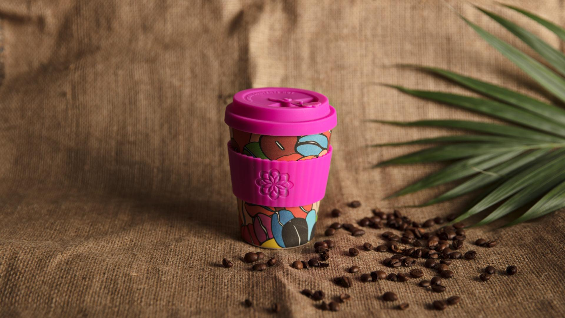 ecoffee cup's Couleurs Café collaboration with Project Waterfall