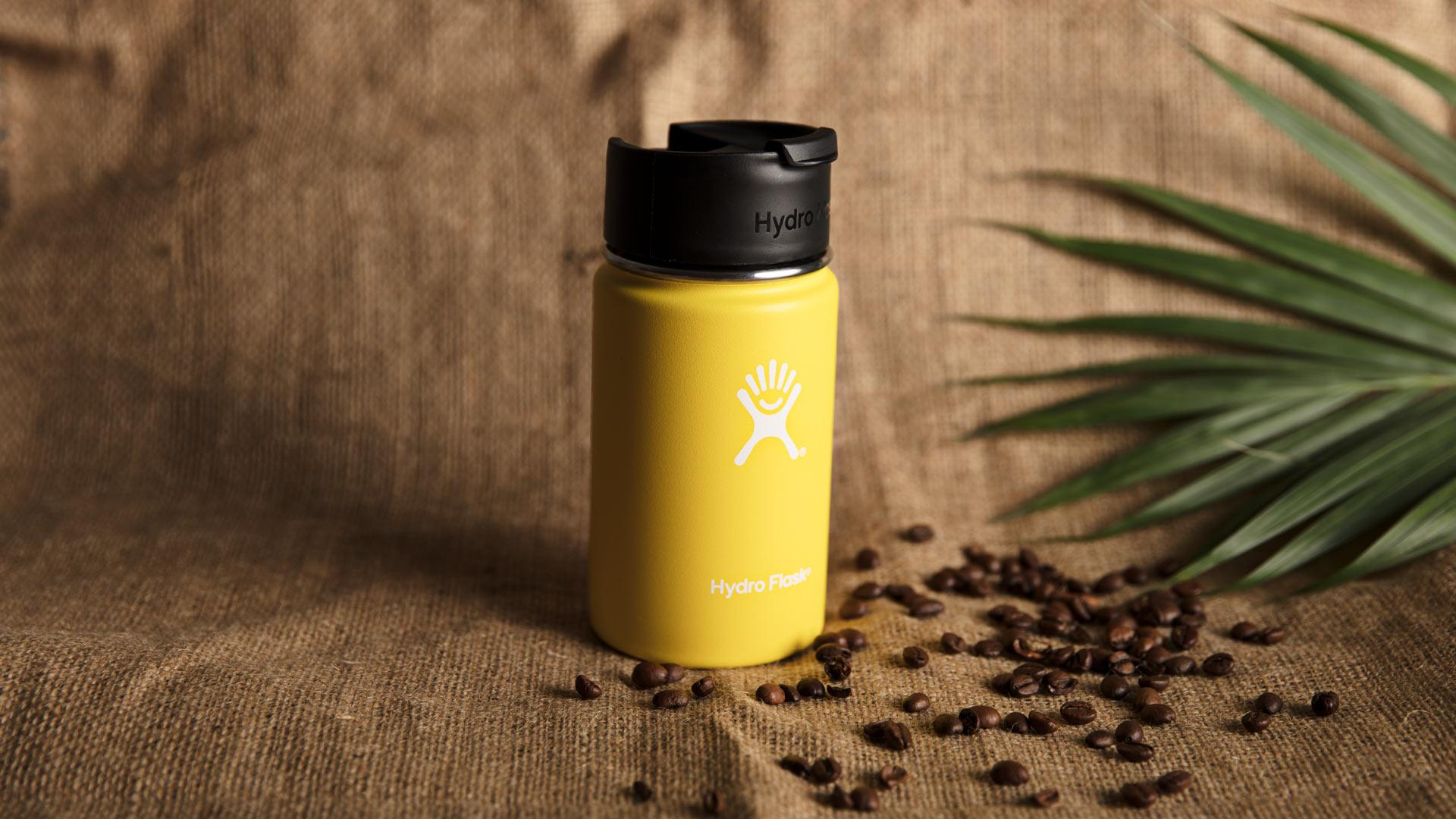 Hydro Flask's coffee flask in lemon yellow
