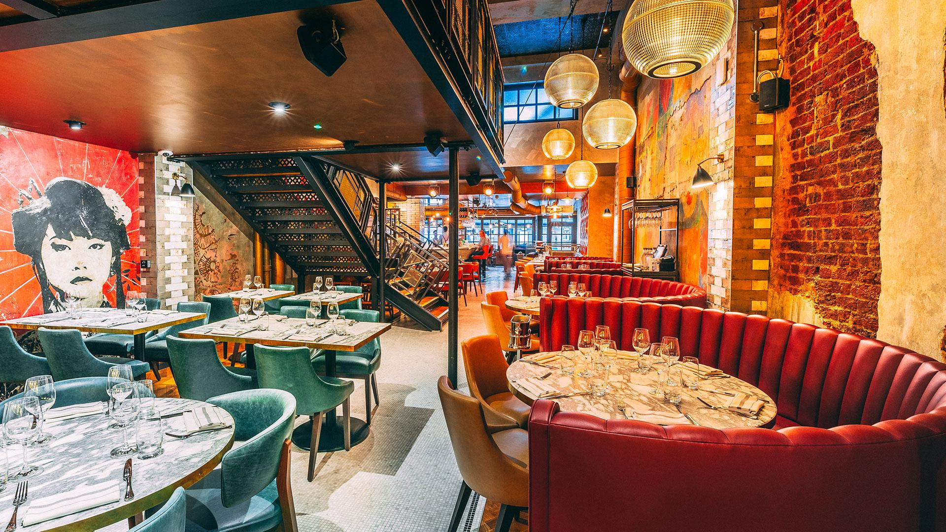 The dining room at Old Compton Brasserie in Soho