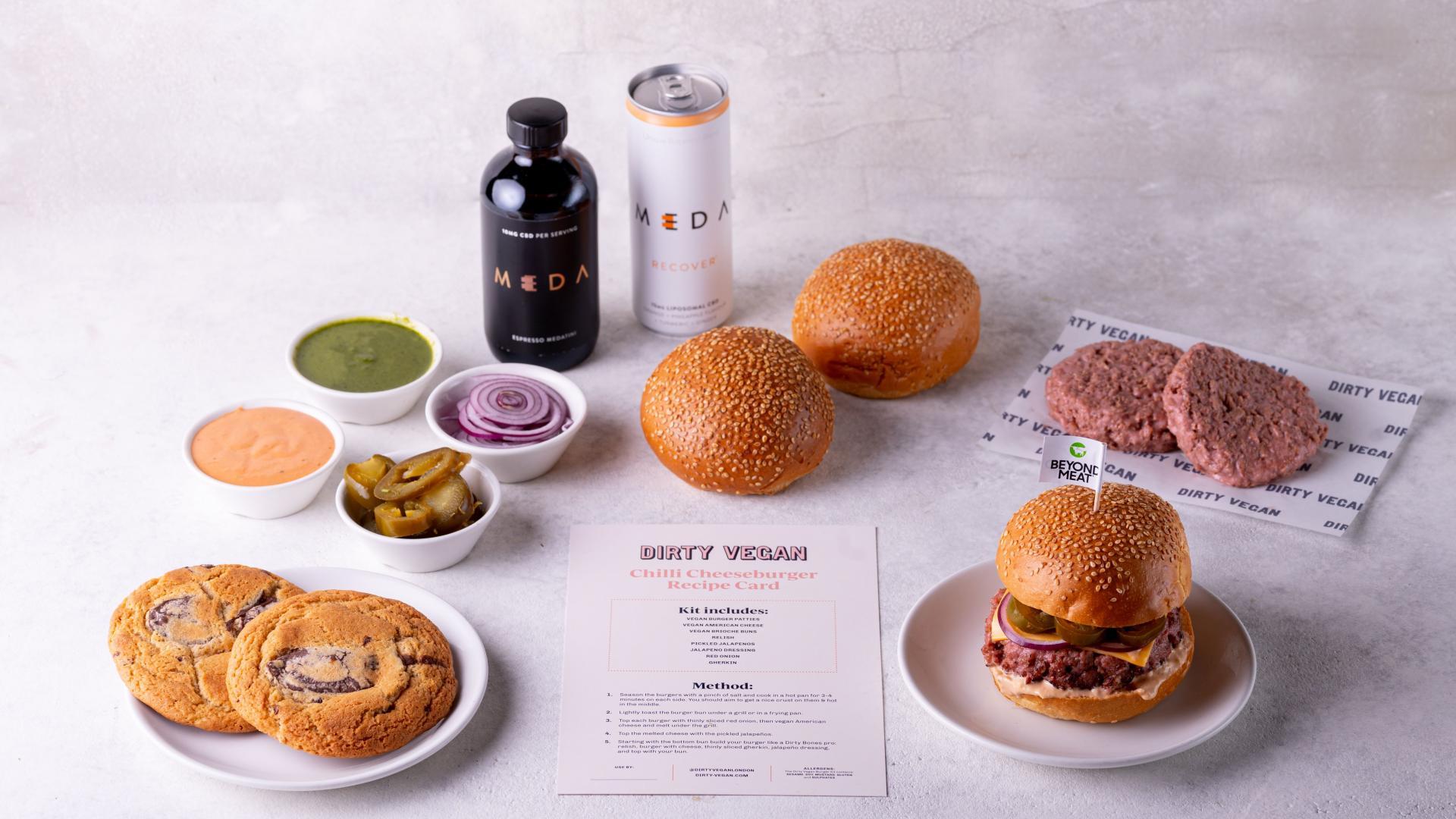 Vegan meal kits and DIY boxes: Dirty Vegan's burger