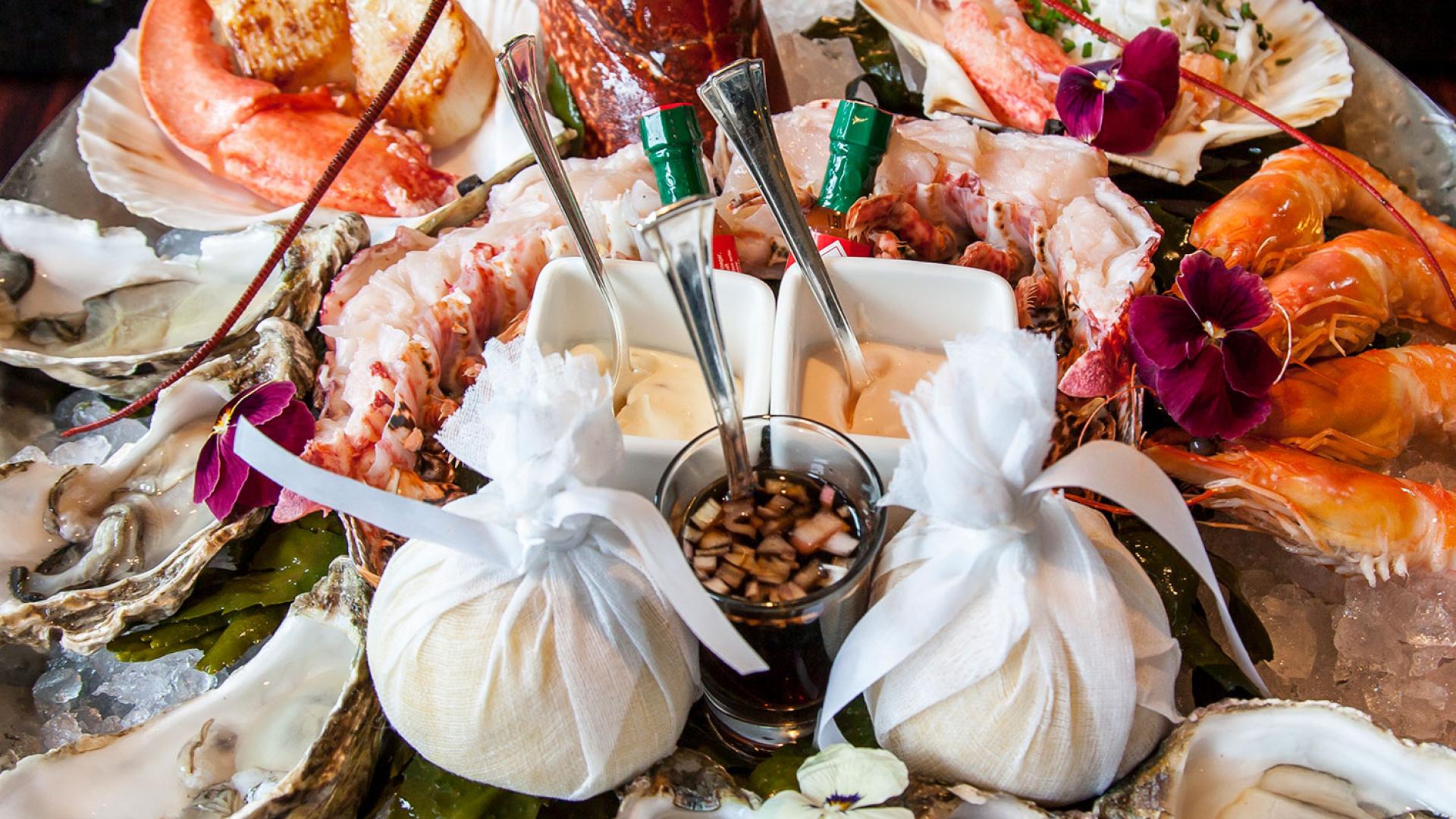 The seafood platter at Kaspar's