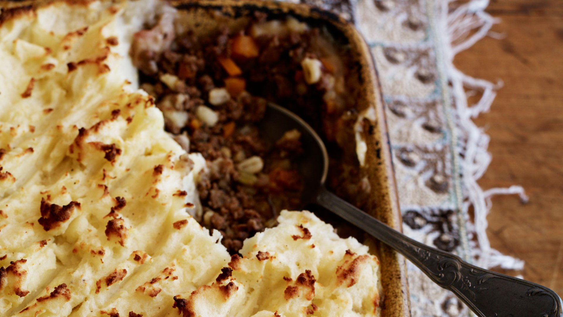 Yeo Valley's beef and barley cottage pie