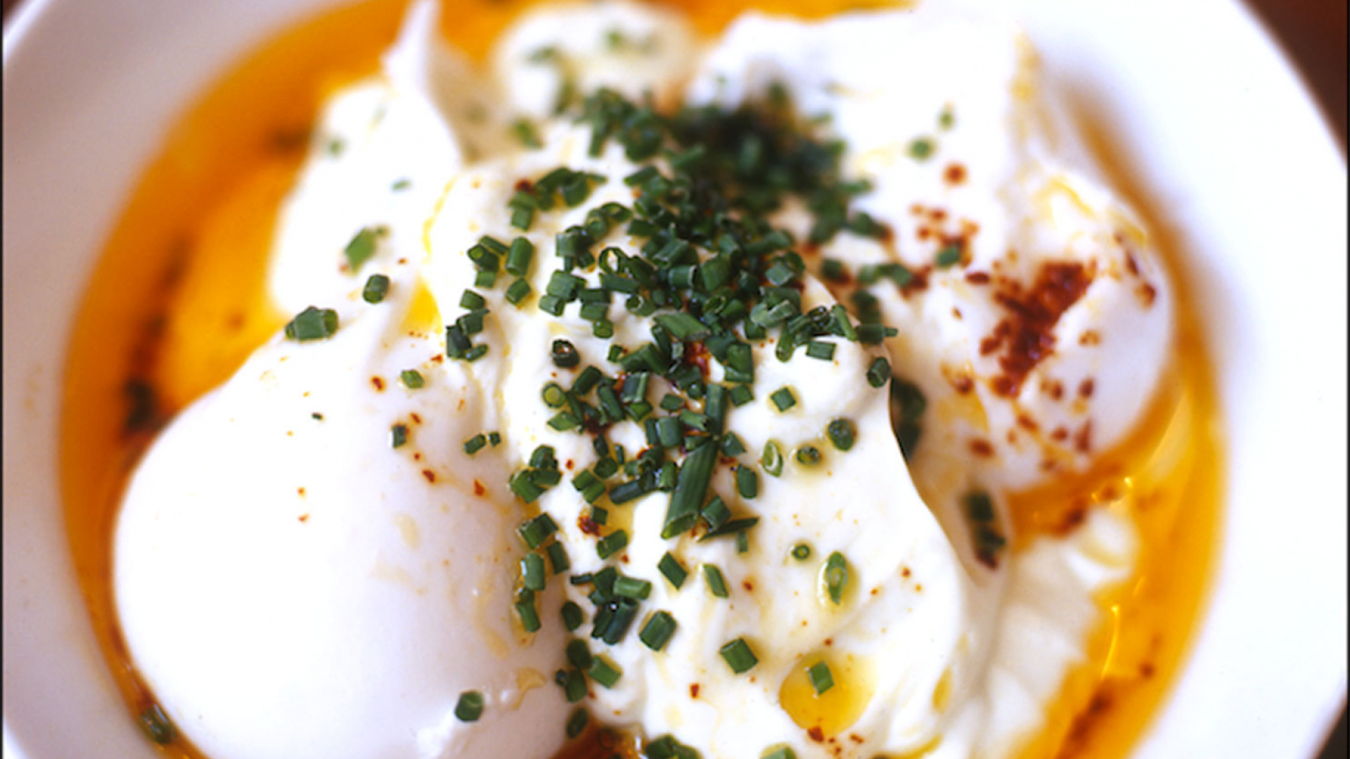 Turkish eggs at The Providores close up