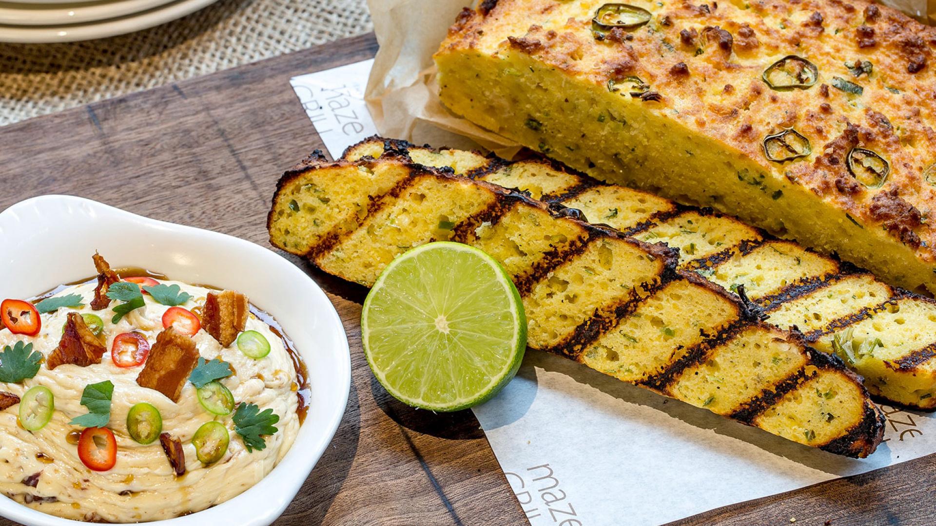 Cornbread and maple butter