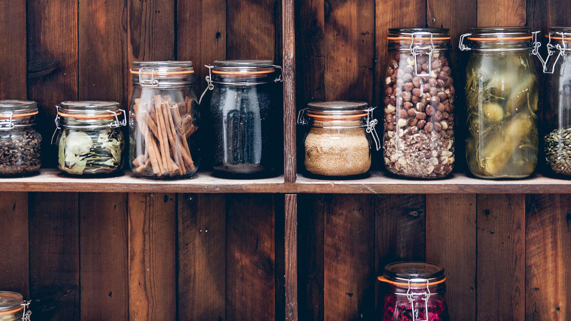 Jars of pickles at Rok