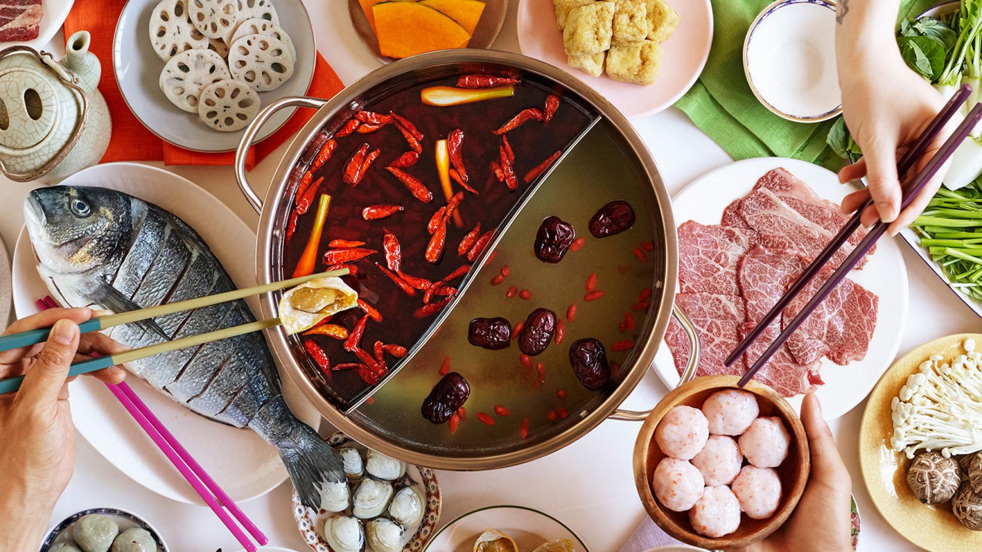Hot pot at Shuang Shuang