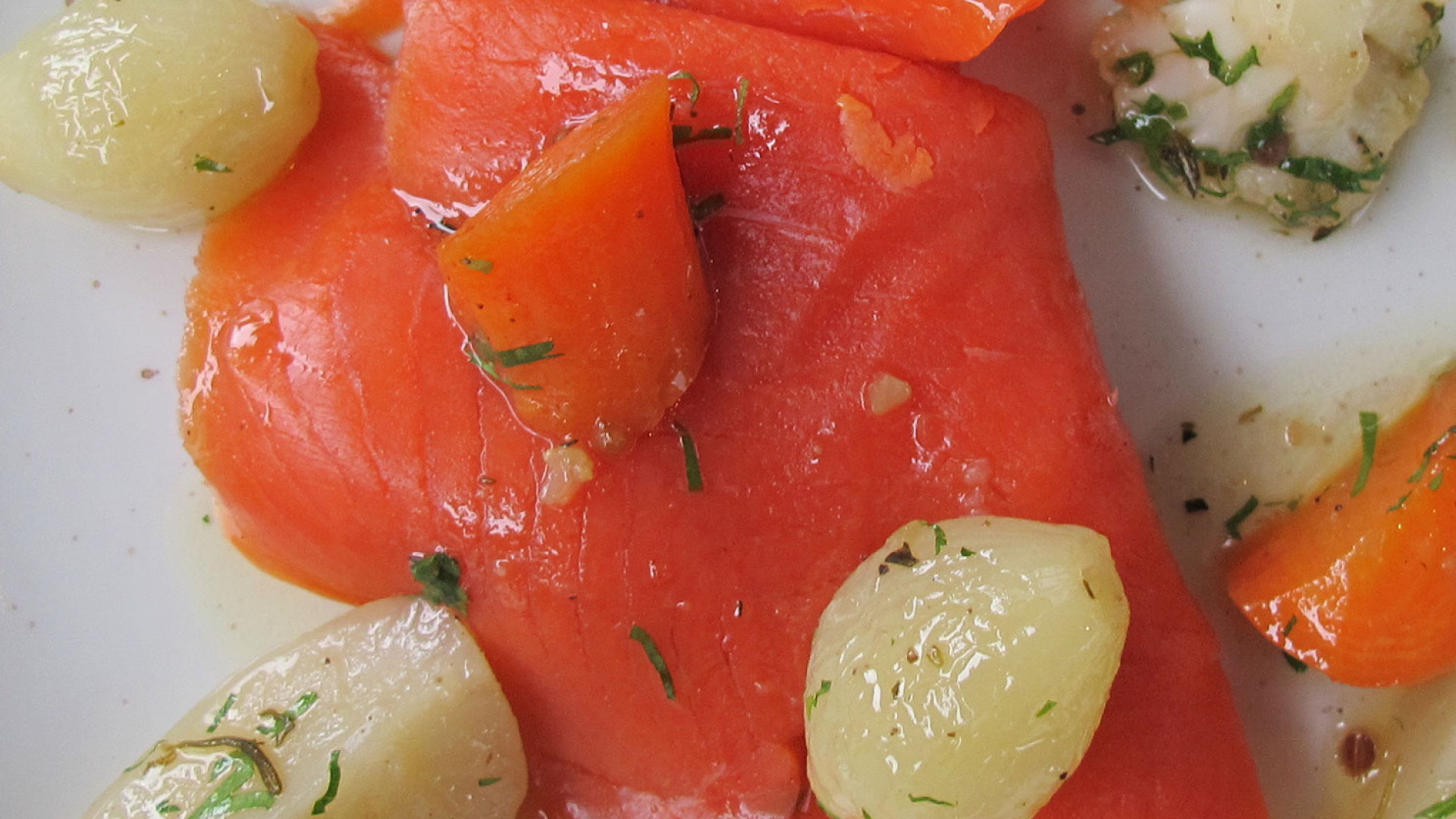 The Ninth smoked salmon with pickled veg
