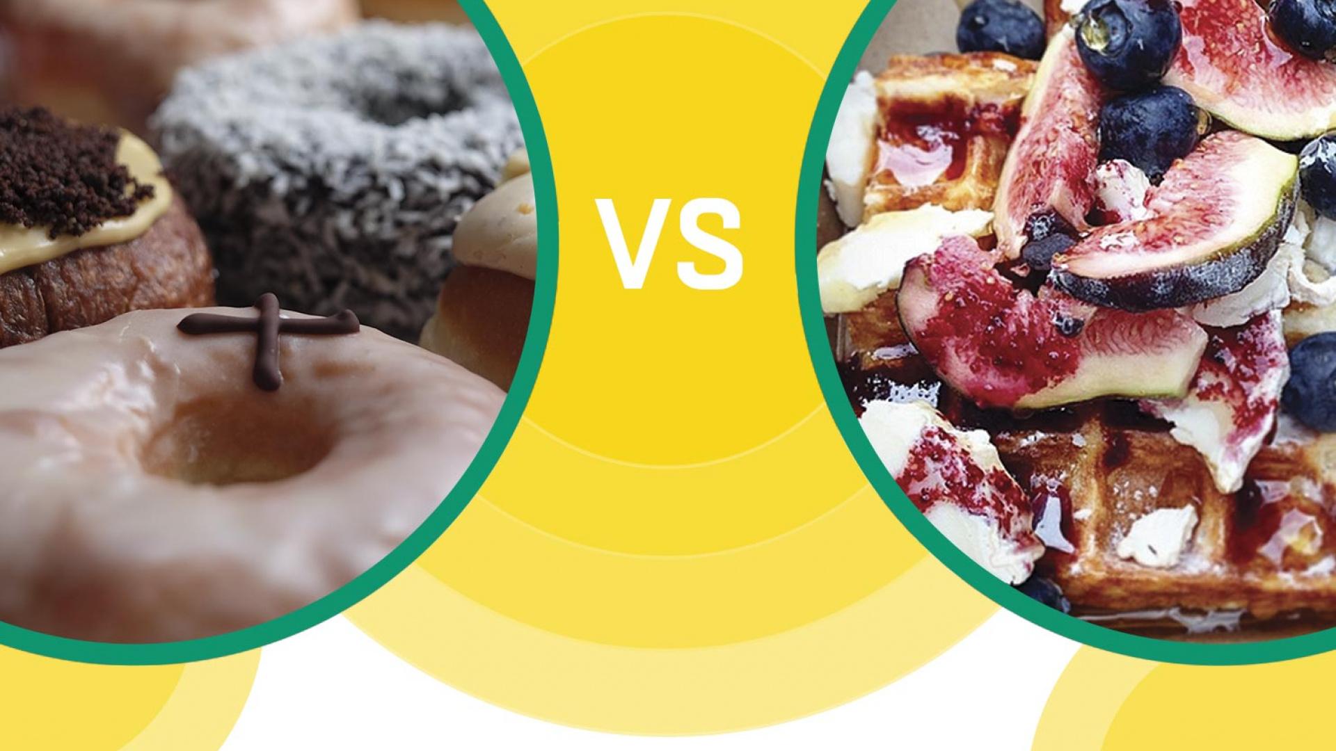 Street Food Fight Doughnut vs waffle