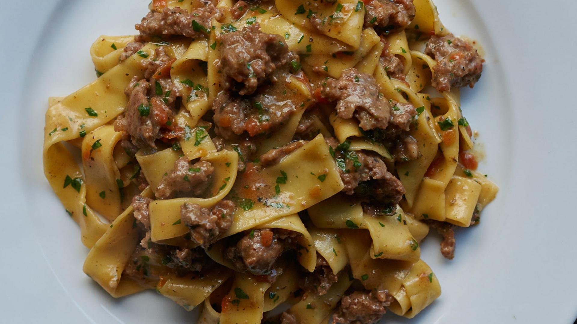 Padella's sausage ragu