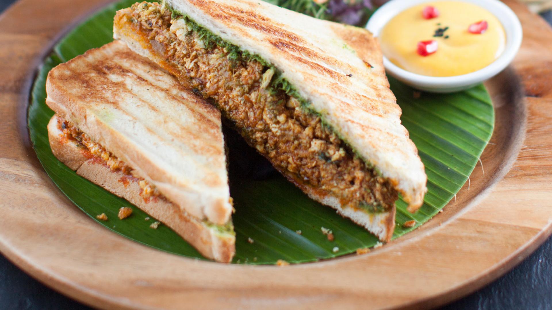 Cinnamon Soho Keema Gotala's lamb and egg toastie