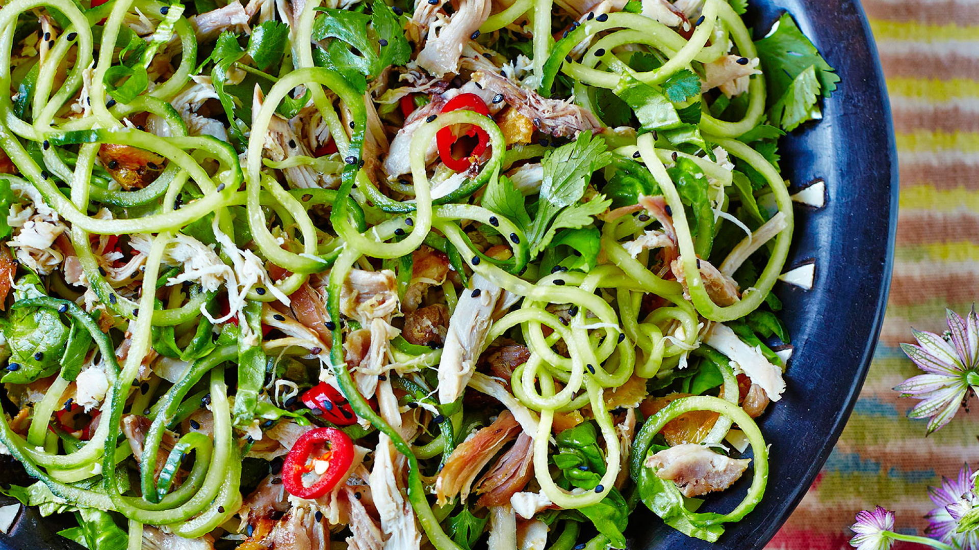 Hemsley + Hemsley's sesame chicken salad recipe