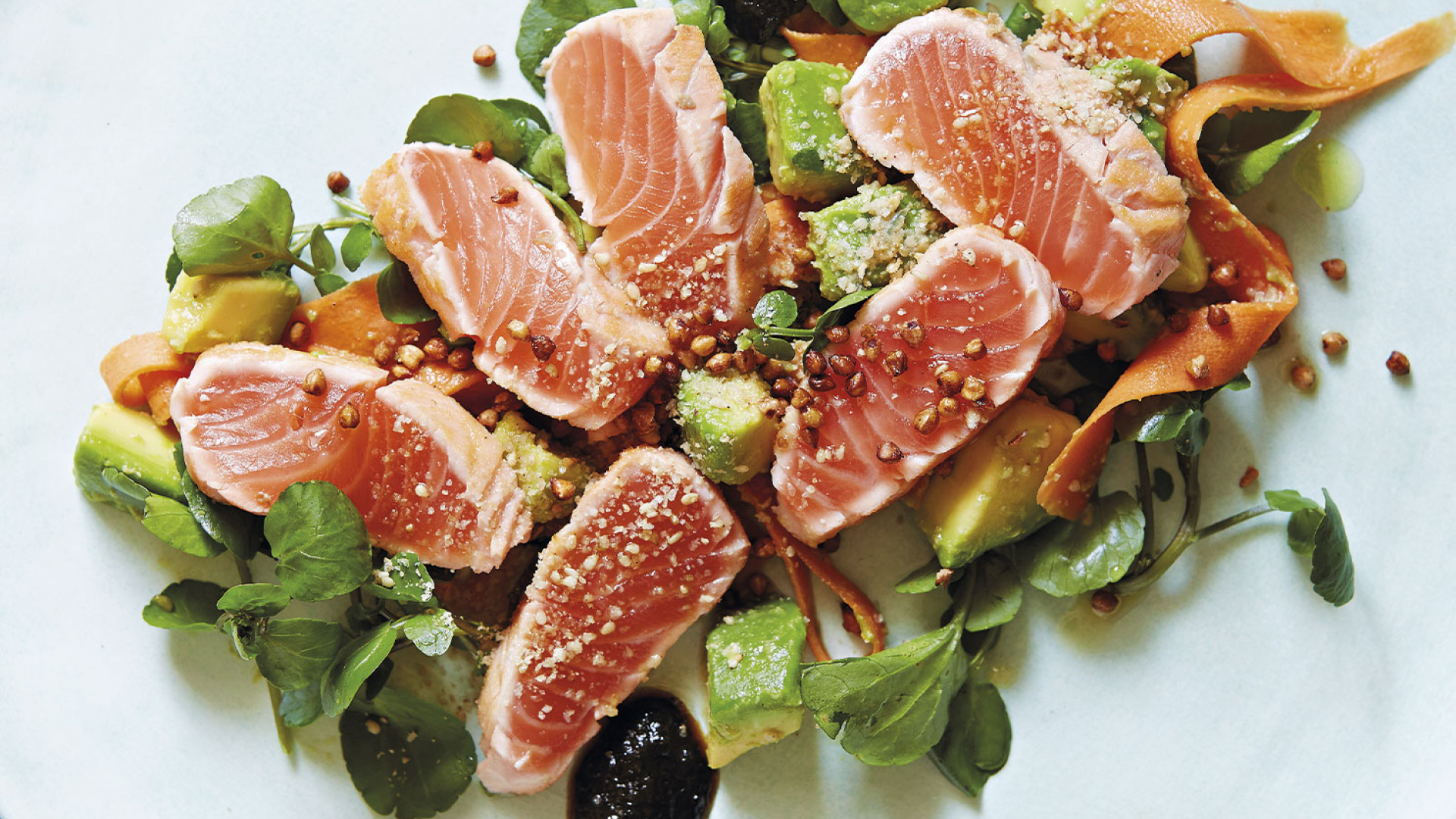 A salad made in the fusion style from Peter Gordon