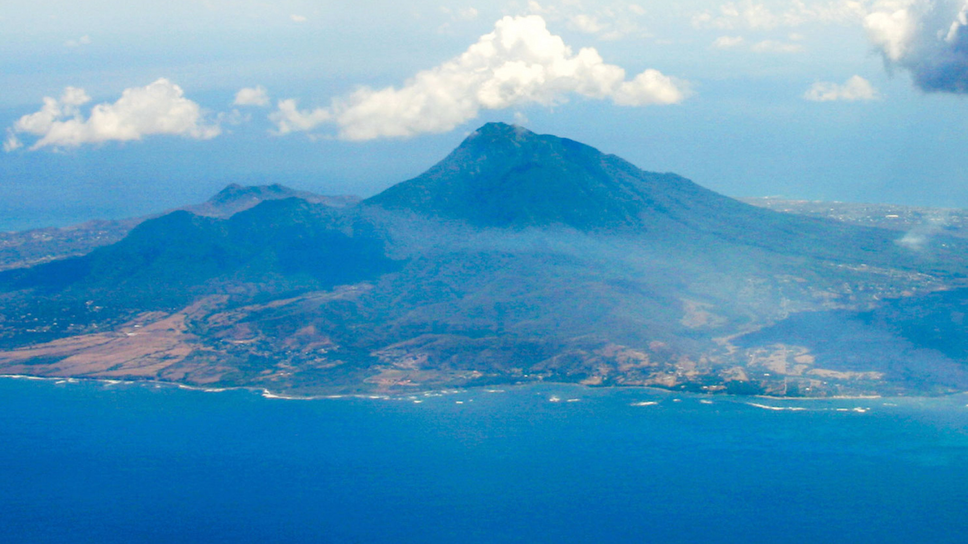 The beautiful Nevis island in the Caribbean