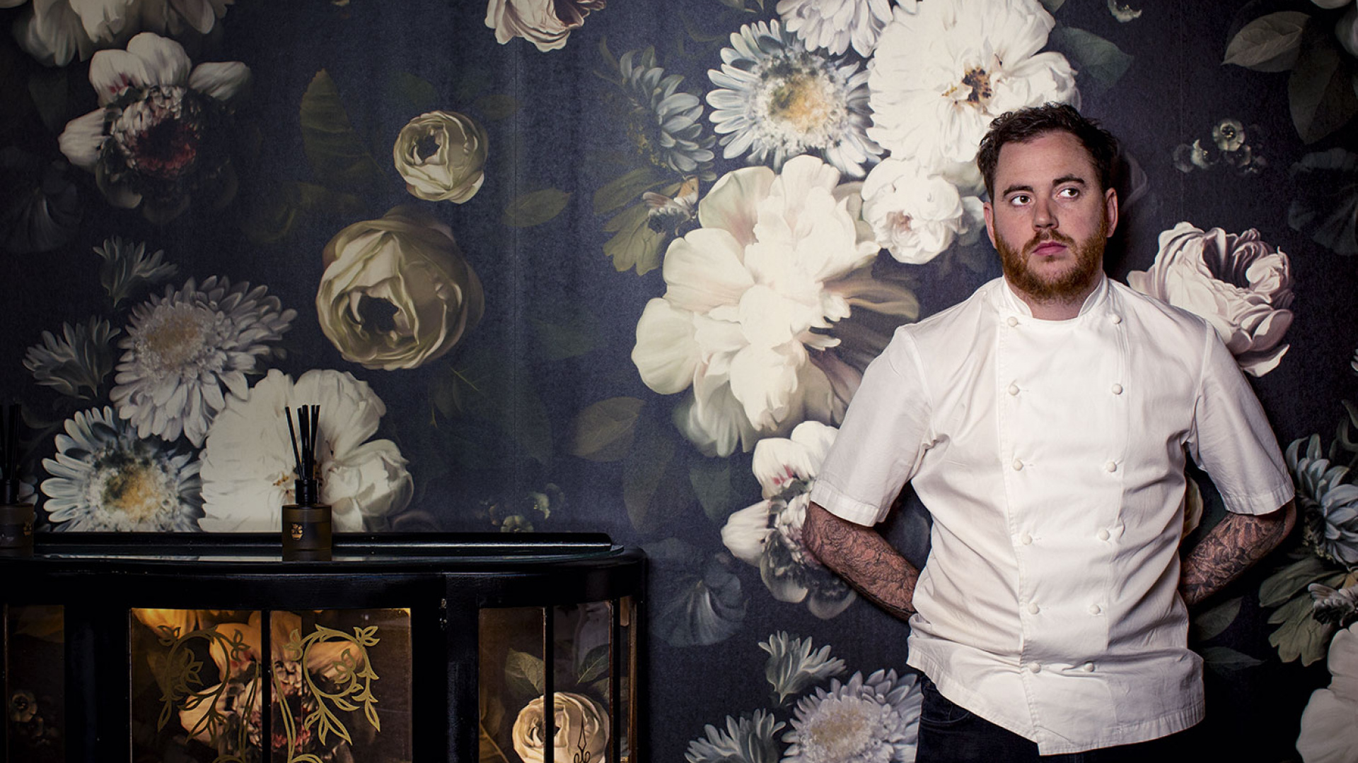 Tom Sellers at his new restaurant, Restaurant Ours. Photograph by Ciaran McCrickard