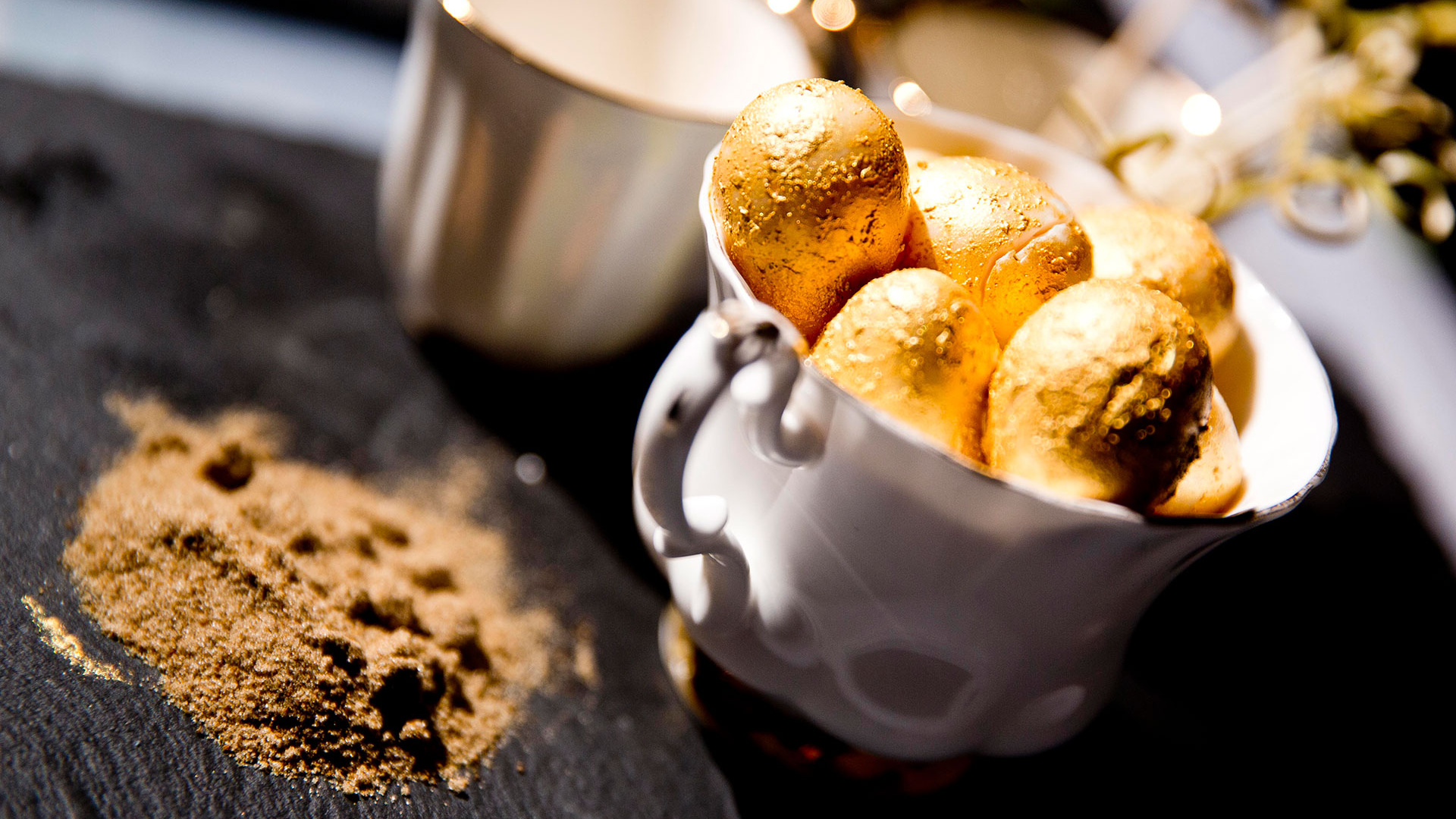 Alex Head of Social Pantry's recipe for gold quail eggs