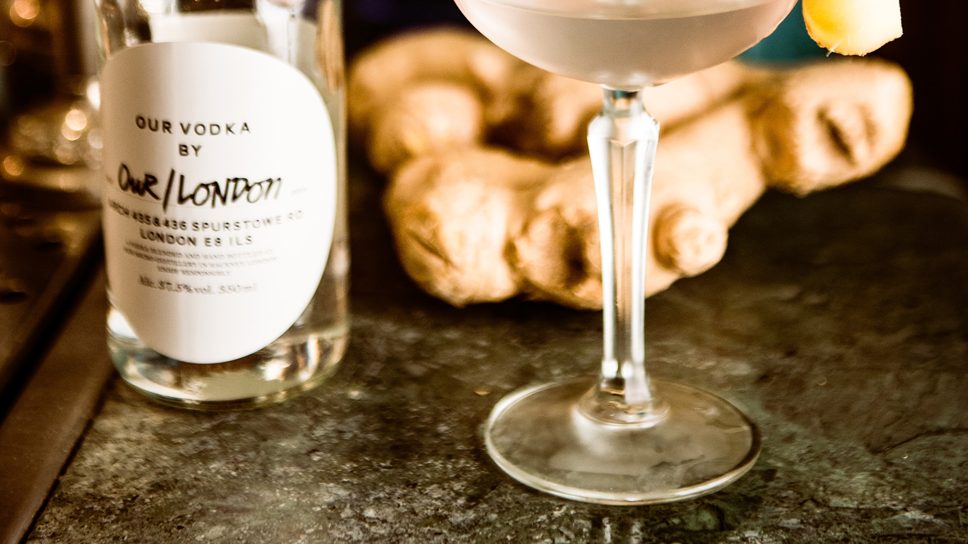 Blixen's raw ginger martini