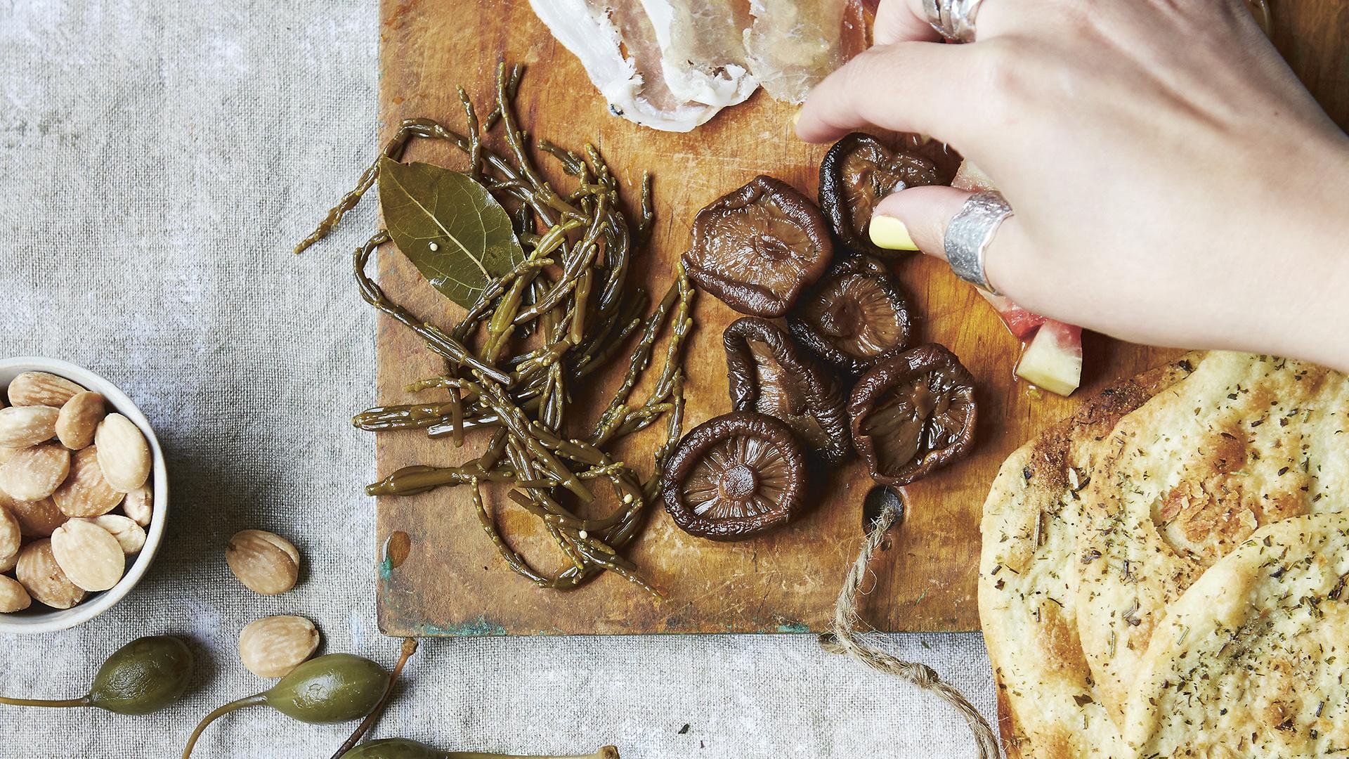 Freddie Janssen's coffee-pickled mushrooms