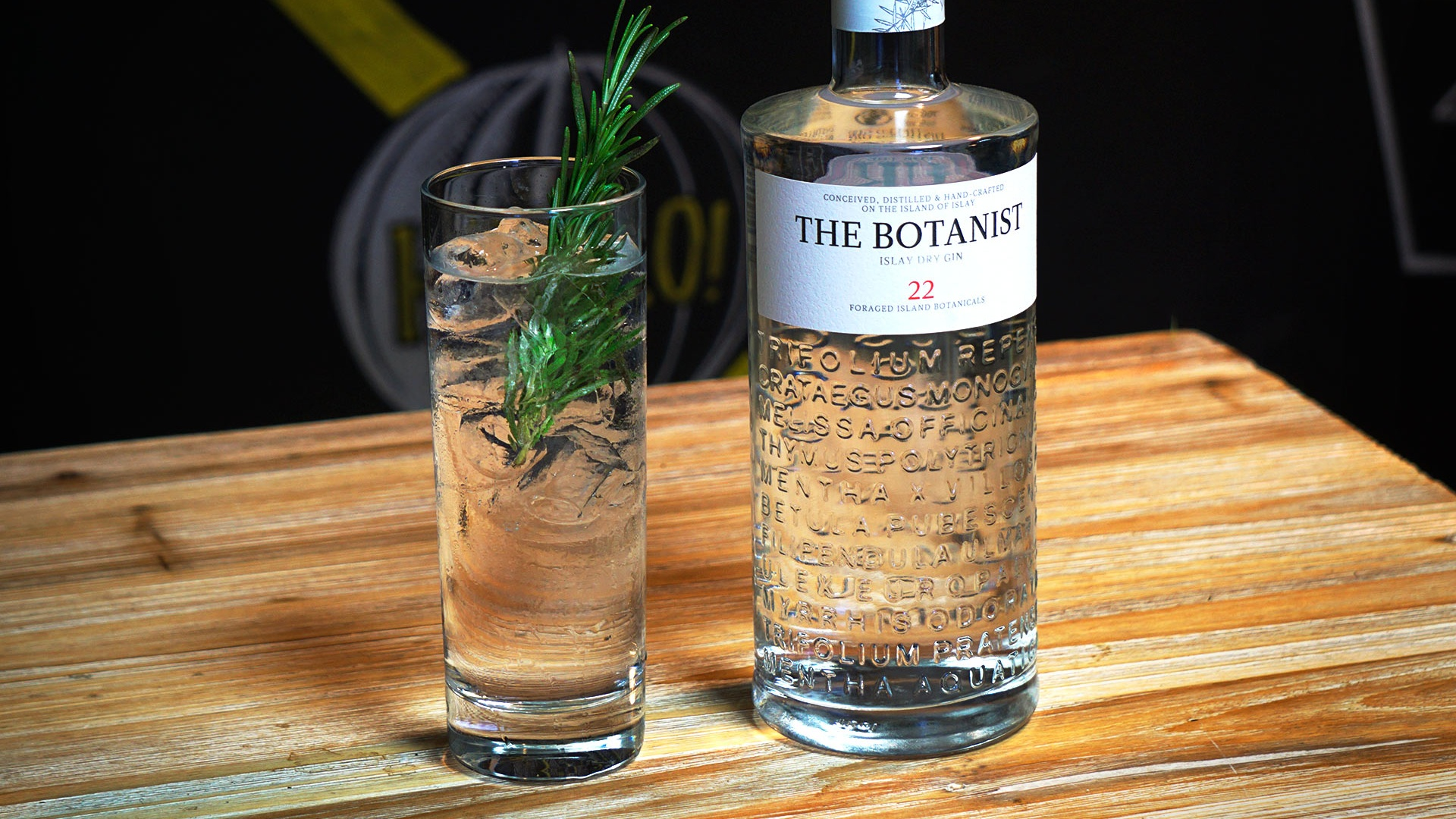 The Botanist's gin and tonic
