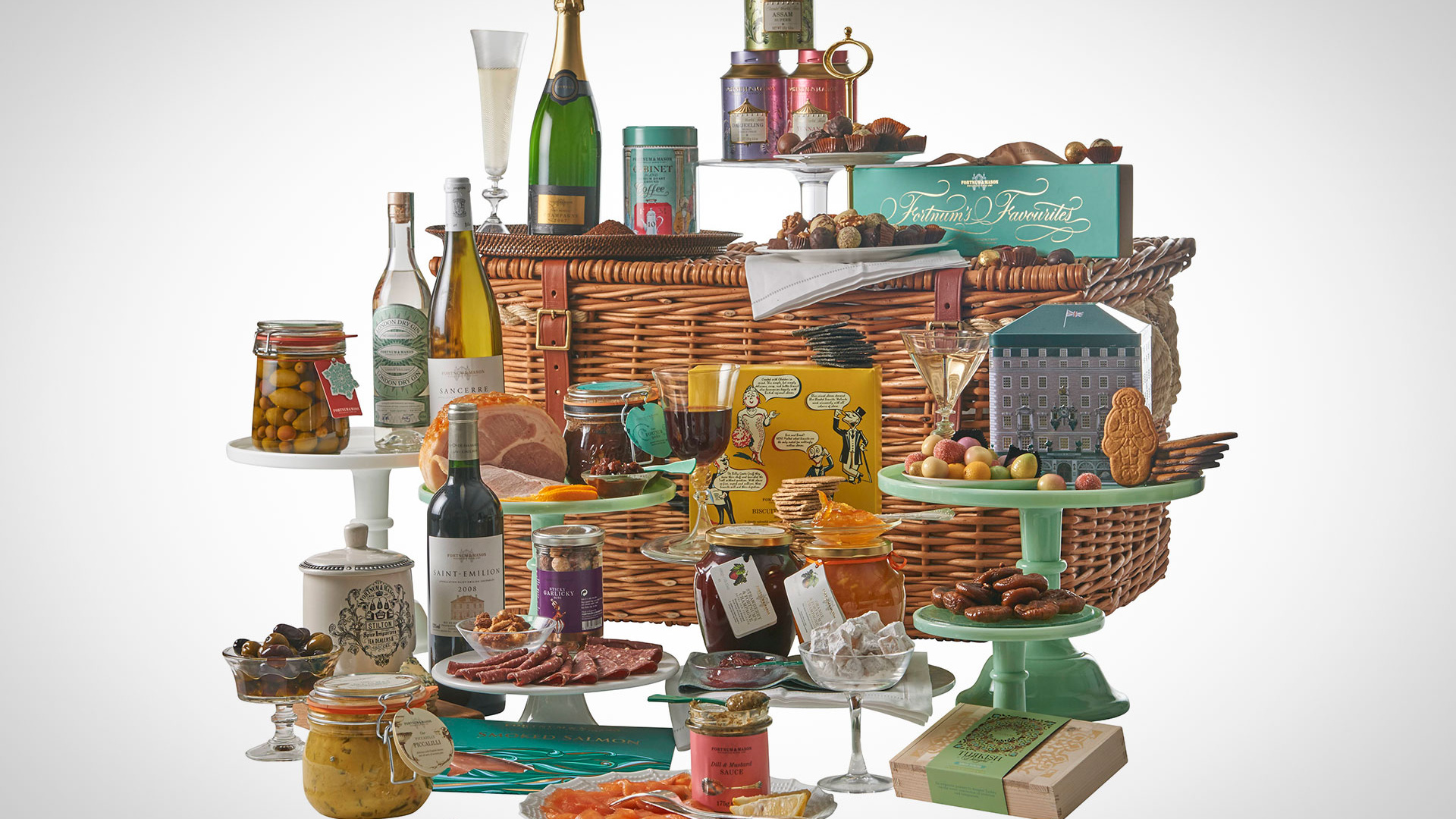 A hamper from Fortnum & Mason