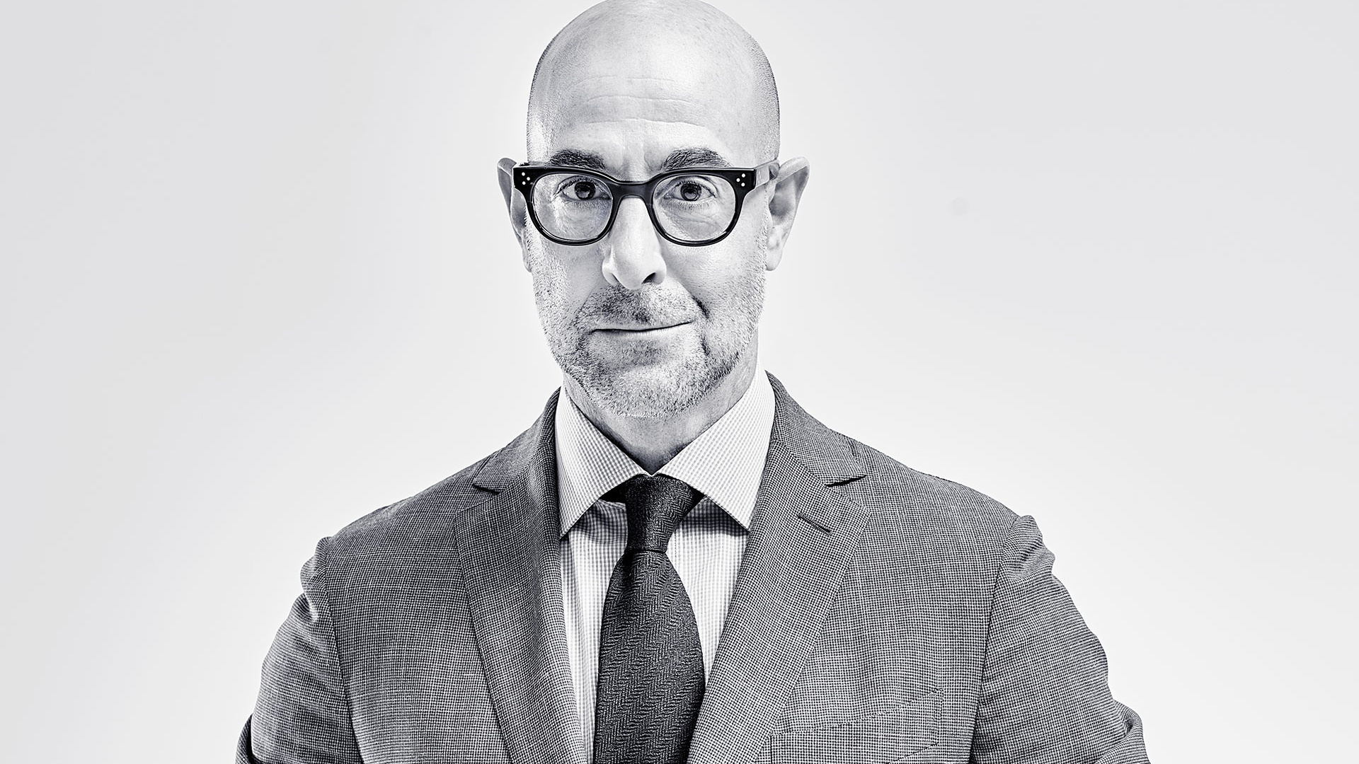 Stanley Tucci at Tun Yard Studios. Photograph by David Ellis