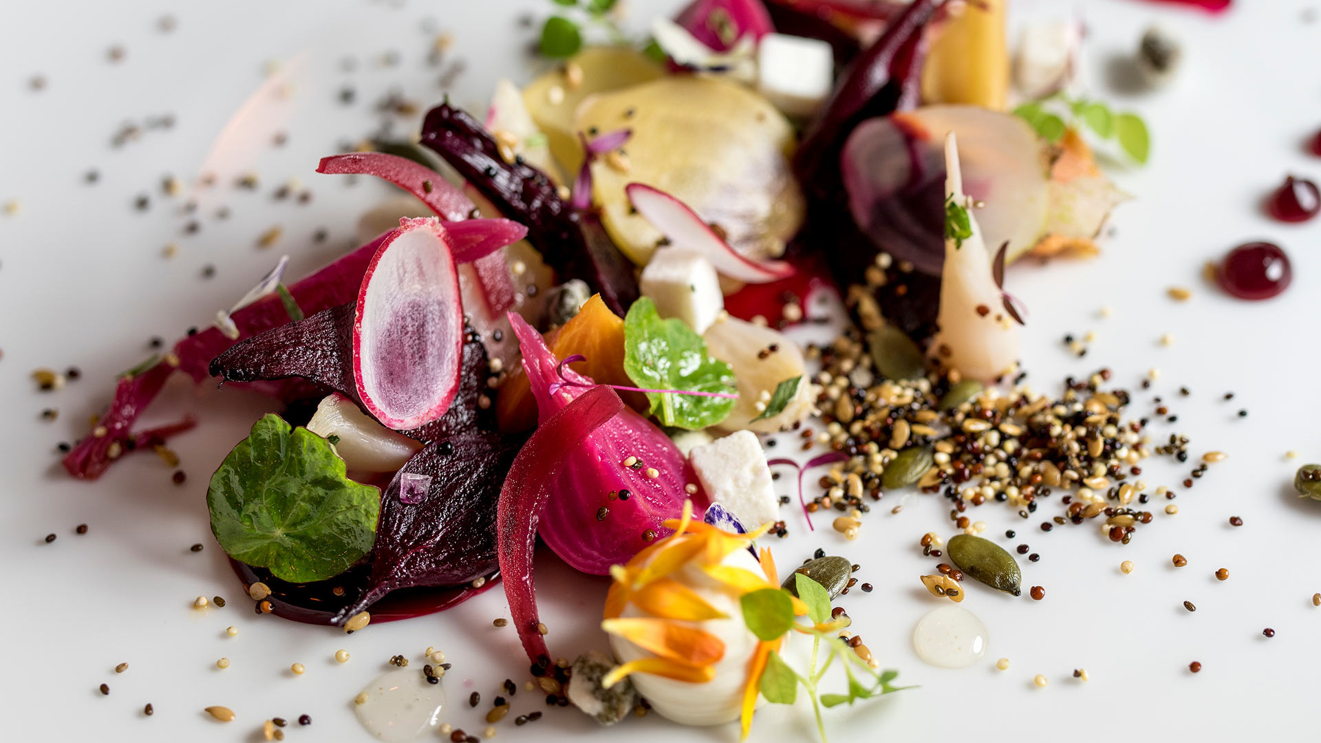 Heritage beets at Ormer, in the Flemings hotel in Mayfair