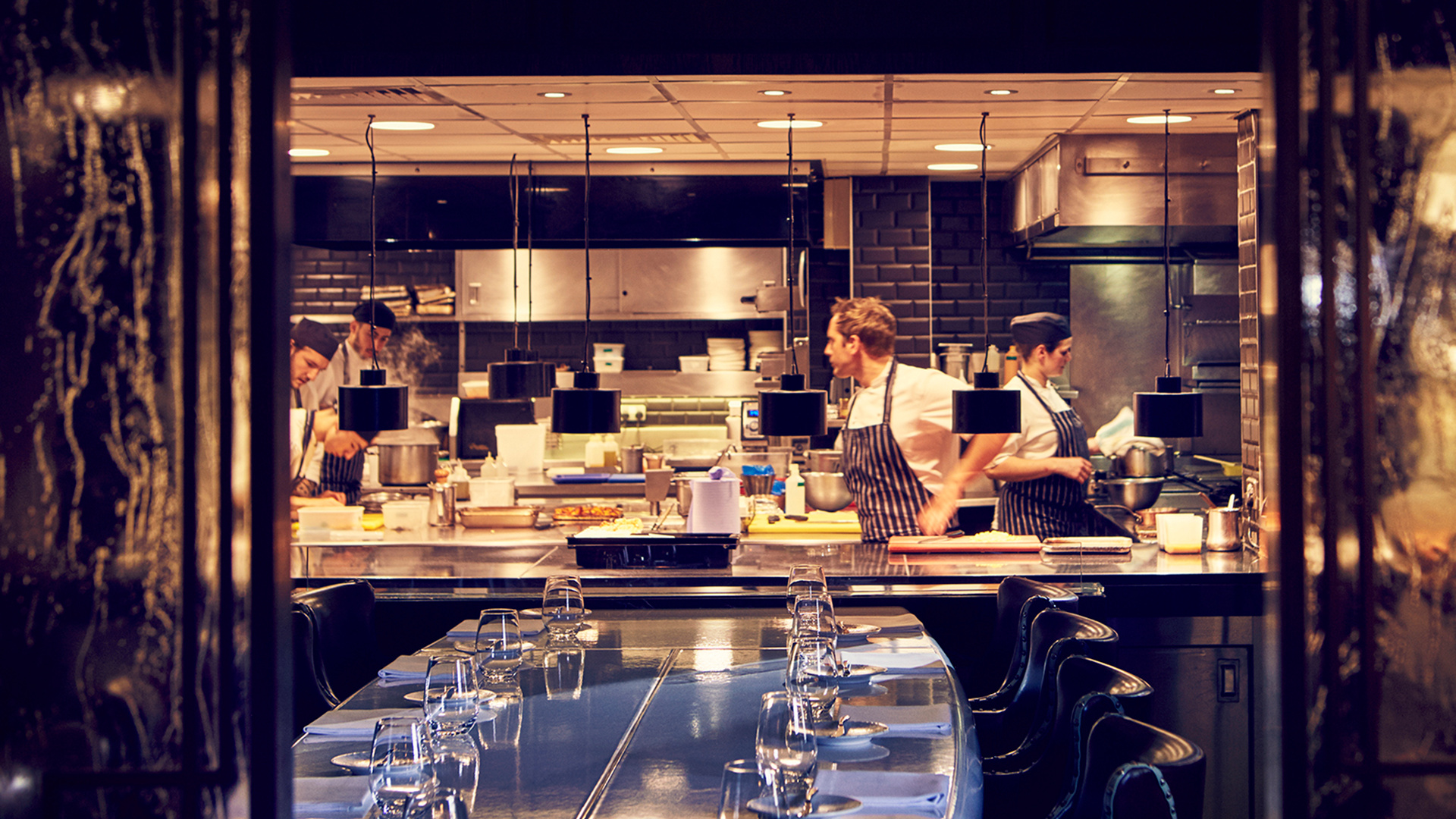 A view into the kitchen at Marcus at The Berkeley