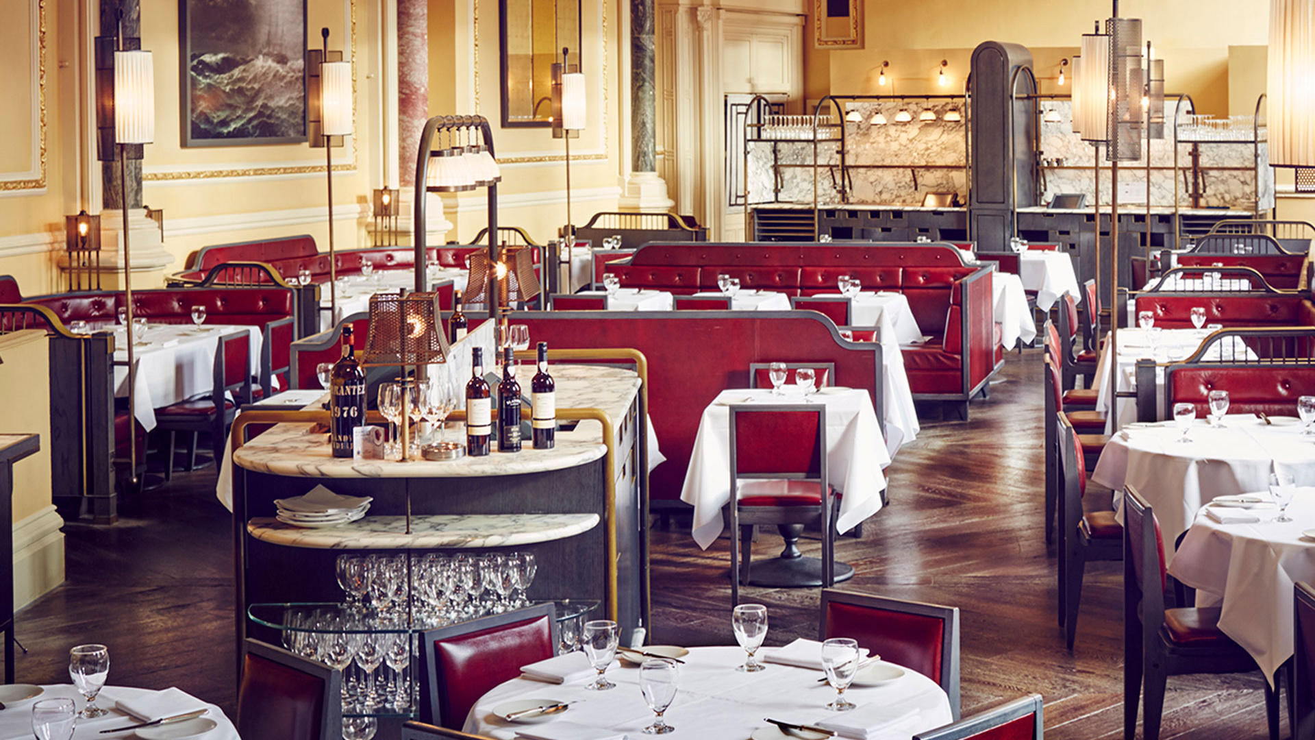 The dining room at The Gilbert Scott