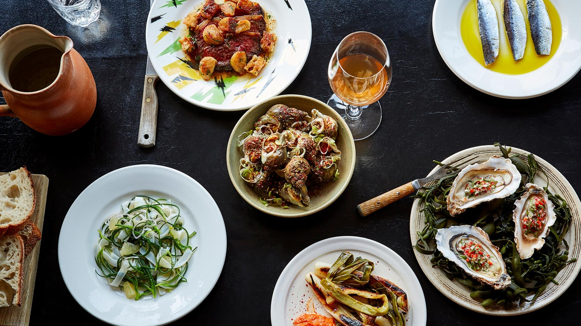 A selection of dishes at Westerns Laundry. Photography by Patricia Niven