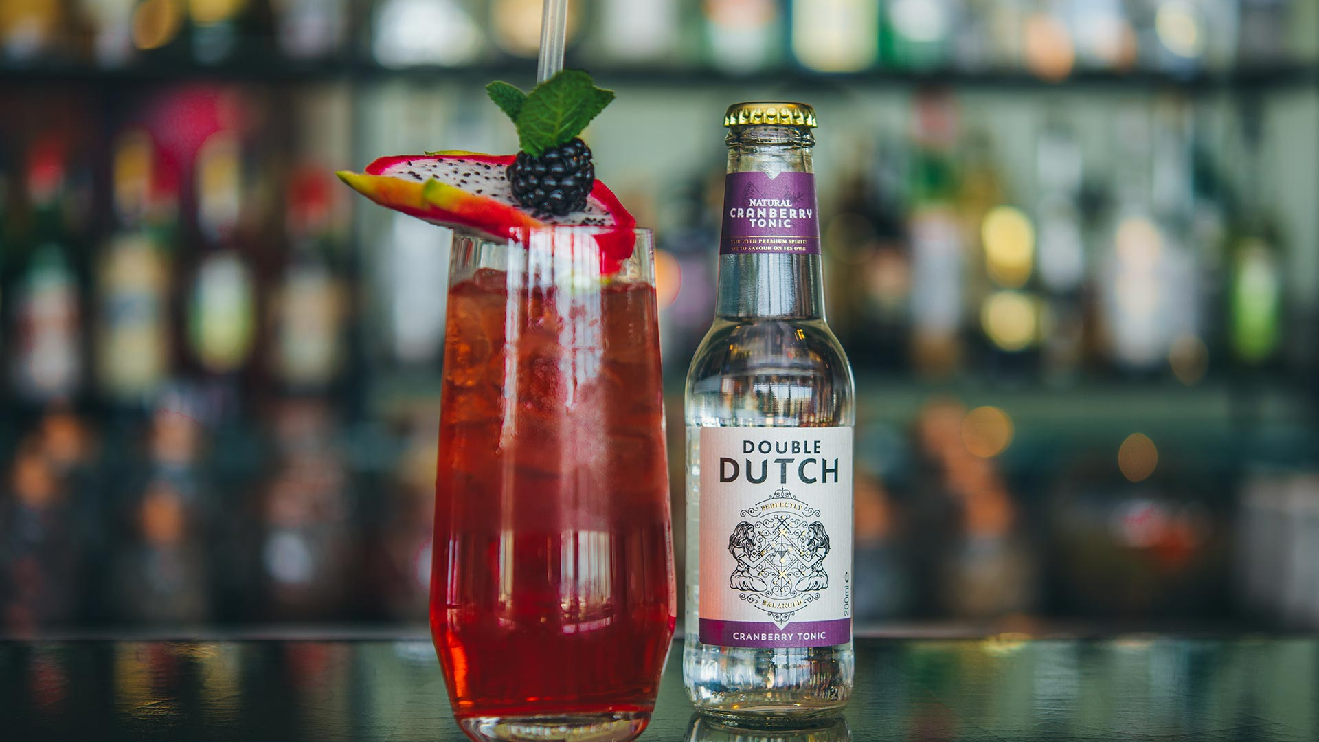 A cocktail made with Double Dutch