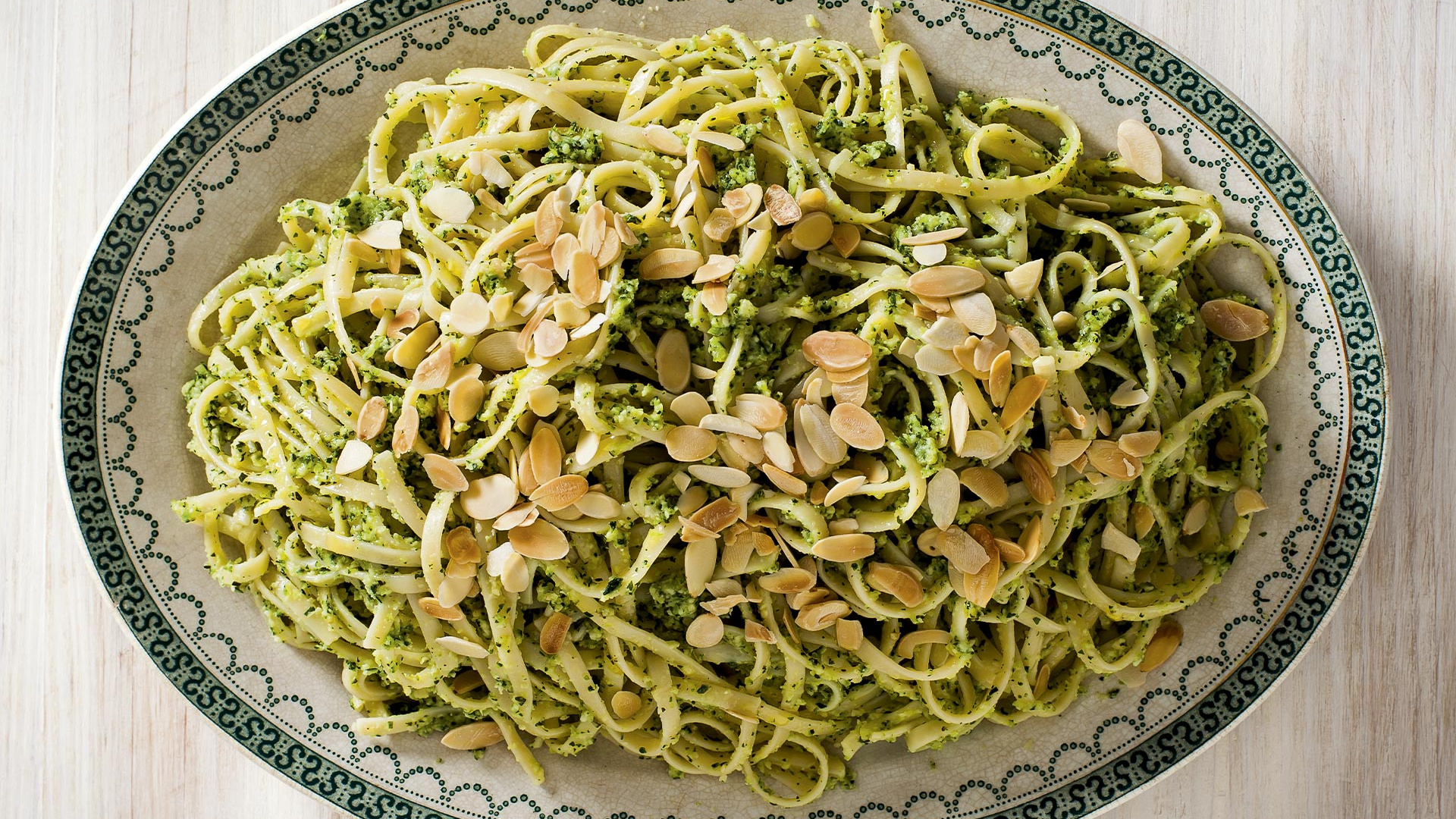 Make The Silver Spoon S Almond And Courgette Pesto Linguine