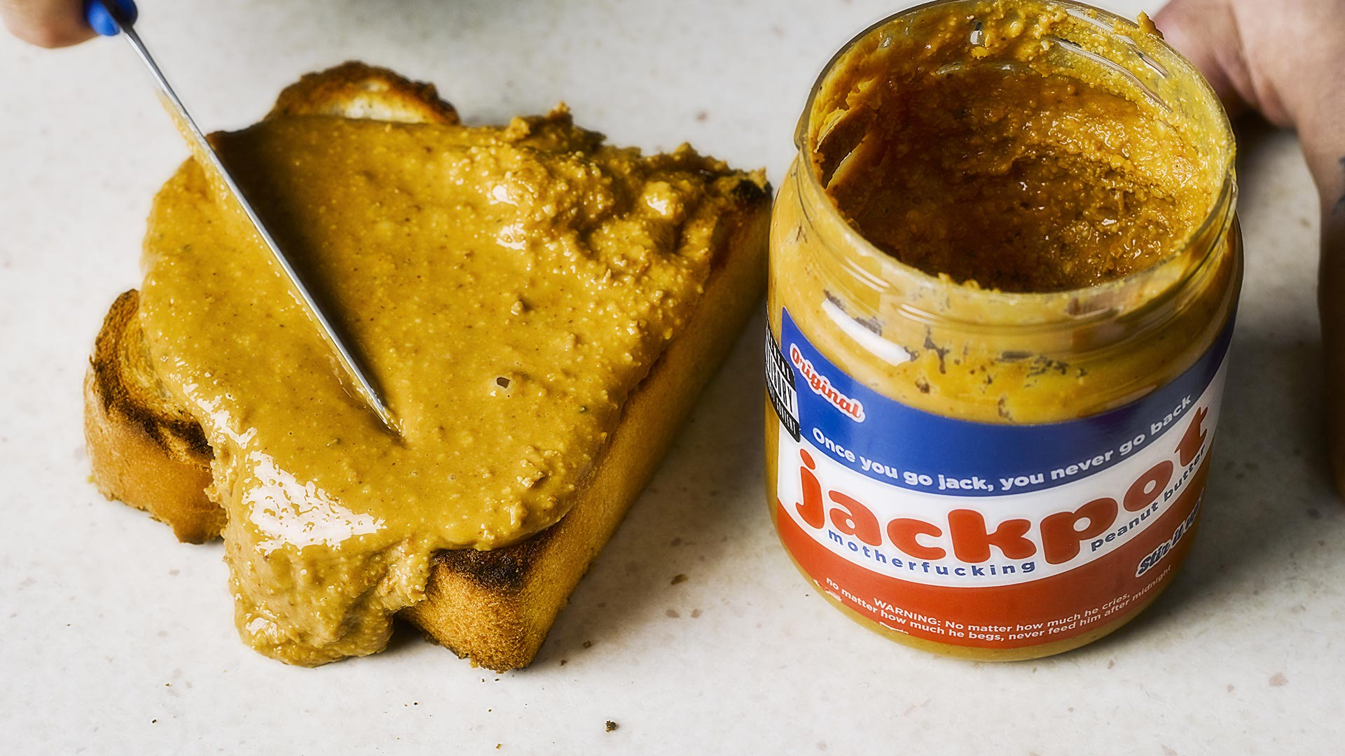 Jackpot Motherfucking Peanut Butter on toast