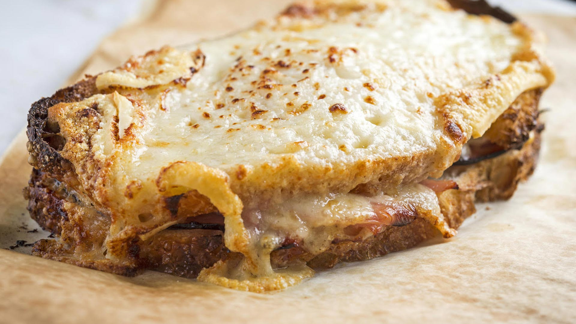 Make Dominique Ansel's Croque Monsieur; photograph by Daniel Krieger