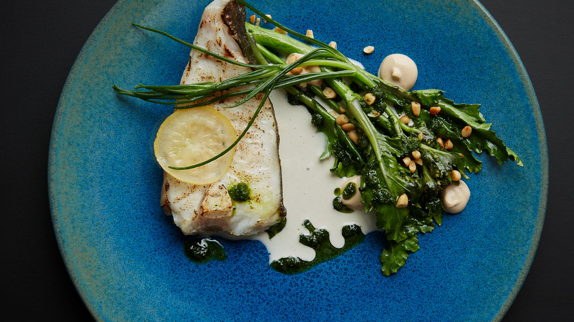 Market fish with anchovies at Neo Bistro. Photograph by Joakim Blockstrom