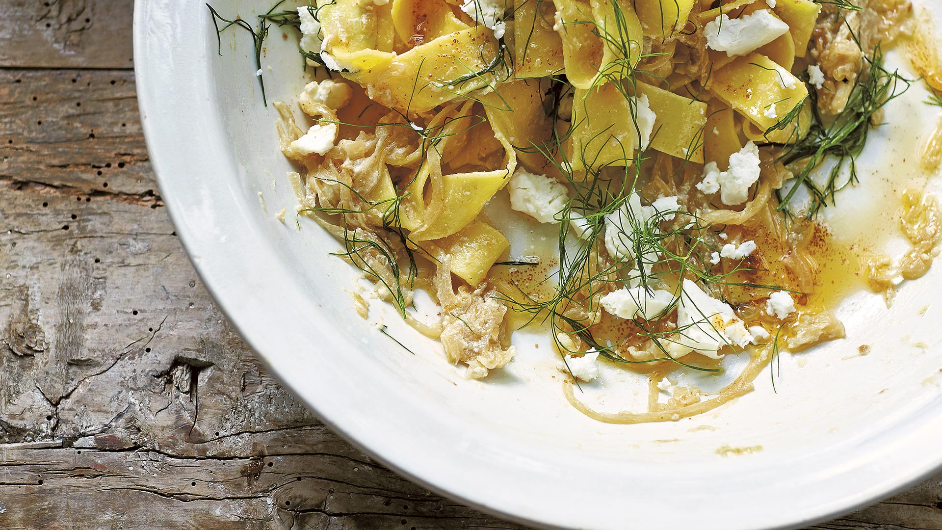 Make Diana Henry's Turkish pasta with feta, yoghurt and dill; photograph by Laura Edwards