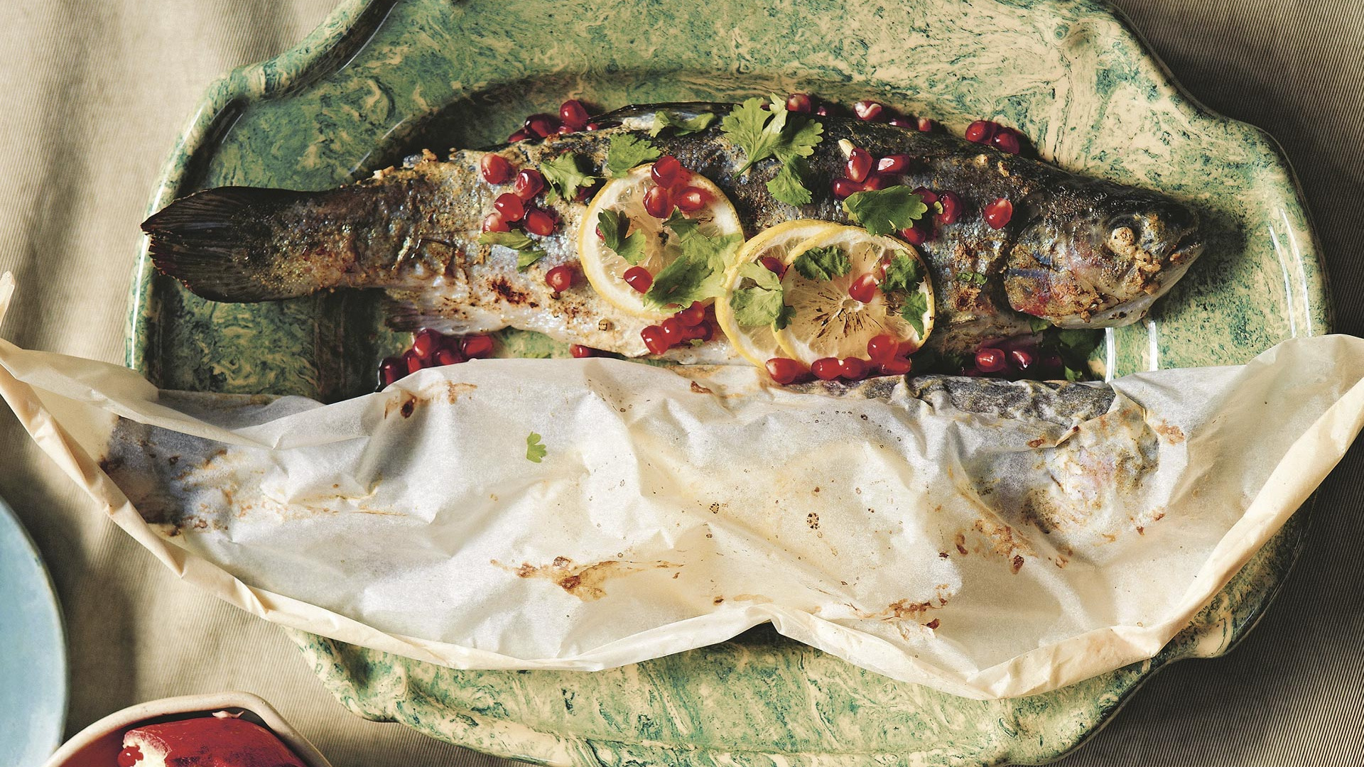 Make Tiko Tuskadze's Georgian trout with pomegranate; photograph by Yuki Sugiura