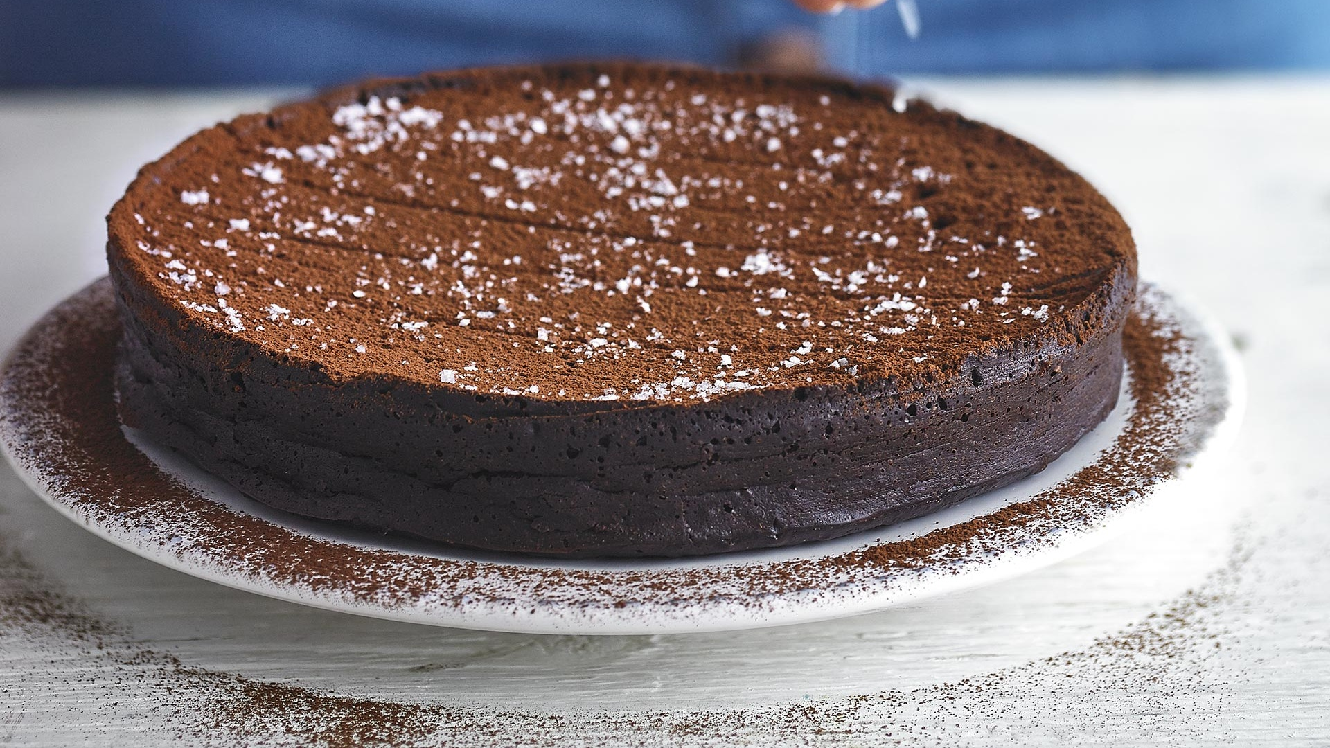 Alexandra Dudley's sea salt chocolate torte; Photograph by Andrew Burton