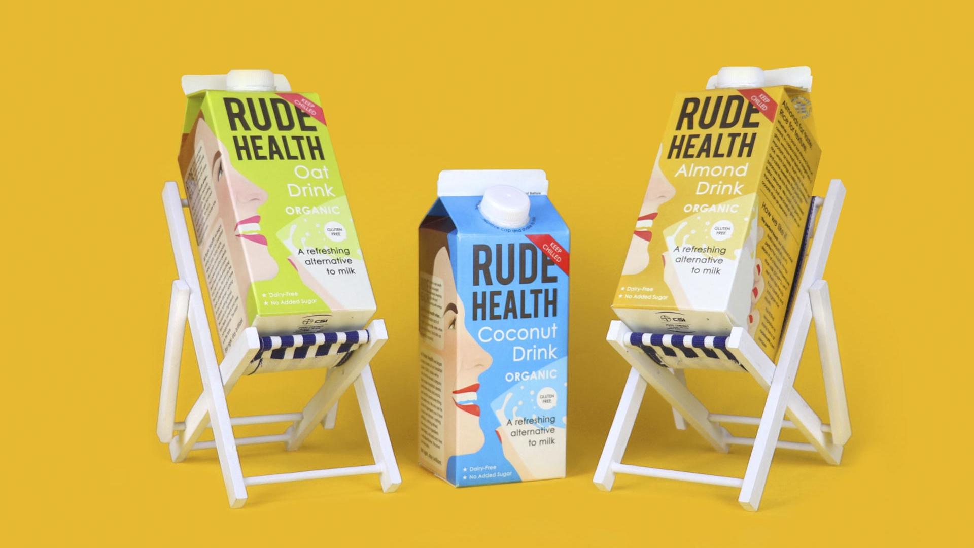Rude Health's oat, almond and coconut milks