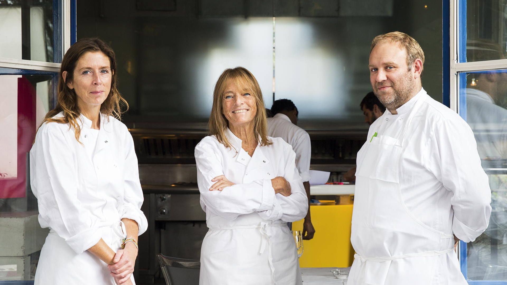 Ruth Rogers with River Café head chefs Sian Wyn Owen and Joseph Trivelli; Photograph by David Harrison